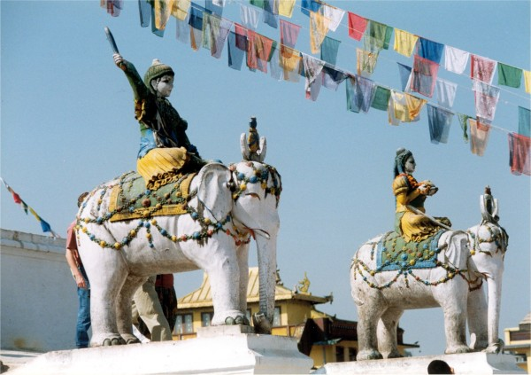 Bodnath Stupa, Kathmandu, Nepal, 1998