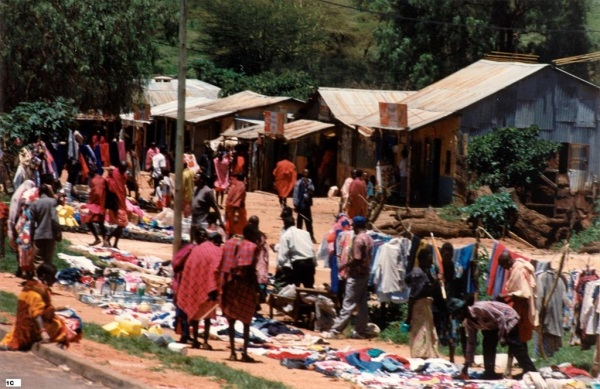 Kenyan village market February 2008