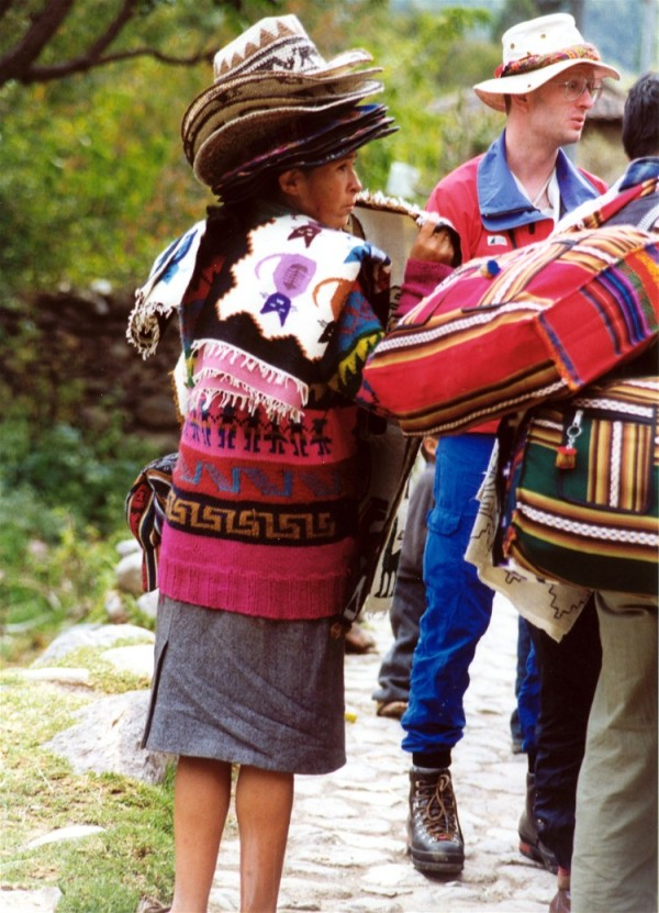 Hat seller, Aguas Calientes, Peru, May 1999