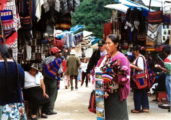 Souviner seller,  Aguas Calientes, Peru,
