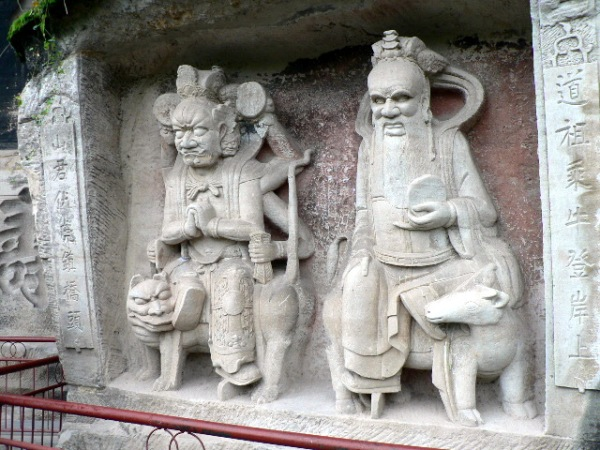 The Dazu Rock Carvings, a World Heritage Site, South West Sichuan Province, China. September 2007