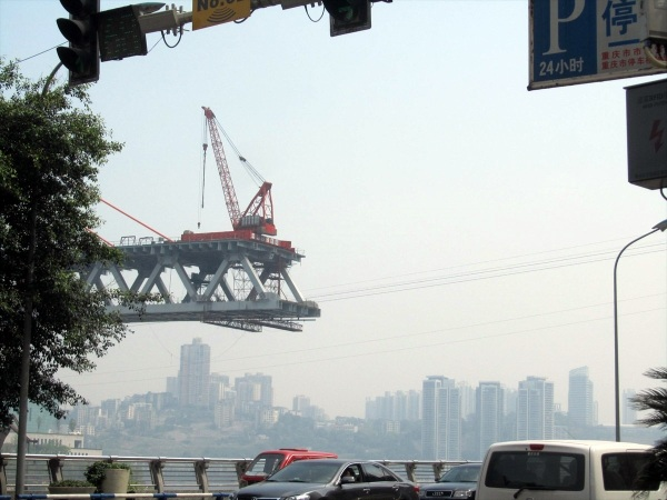Chongqing - they  are building yet another bridge across the Yangtze
