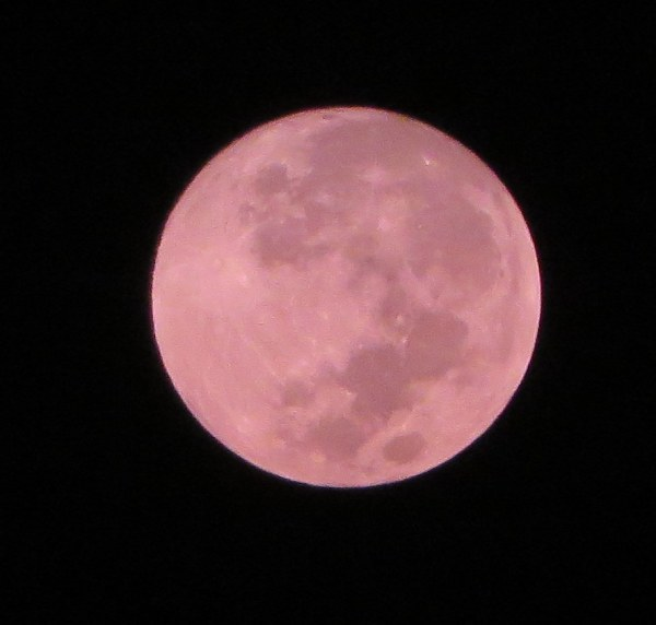 The moon , South West China, 6.04 am, 8 October 2014