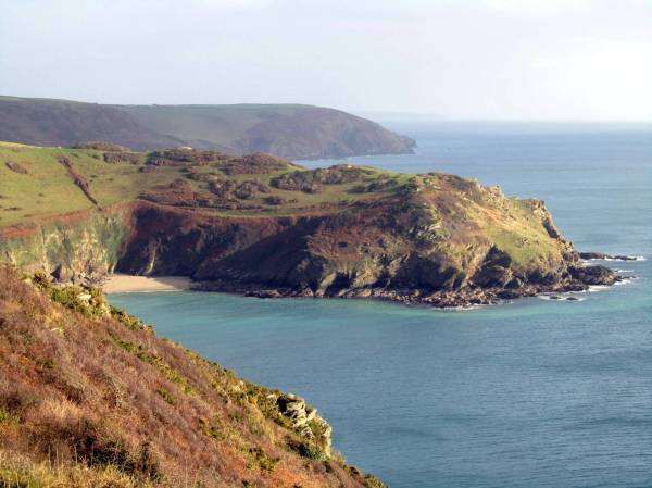 The South West Coast Path between Polruan and Polperro,  Cornwall, England, December 2014