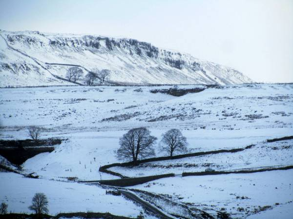 Upper Wharfdale, North Yorkshire, England, January 2015