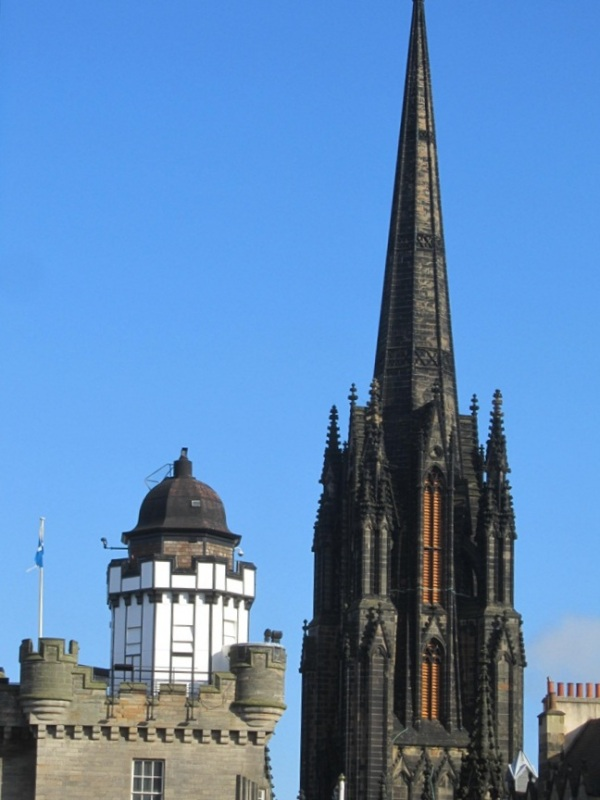 St Glies Cathdral and the Camera Obscura, Edinburgh, February 2013