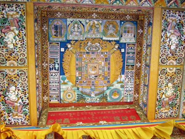 Ceiling panel, the Buddhist Monastery, Xianchen, Sichuan Province, China, May 2013
