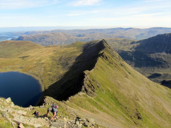 Striding Edge from Helvellyn, 28 September 2013