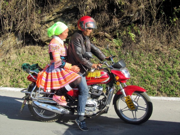 Bikers - Yuanyang, China, February 2014