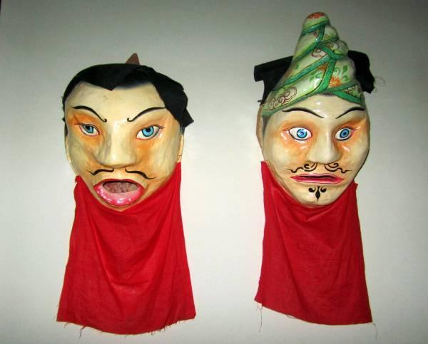 Ceremonial masks at the Zhuokeji Tibetan Chieftain's house, Maerkang, China. September 2014