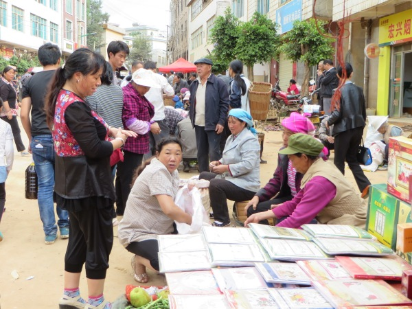 Keduzhen, Yunnan Province, China, Saturday morning market, 4  October 2014.