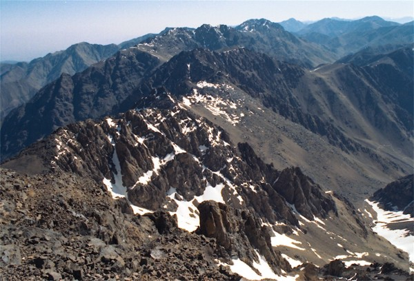 Jebel Toubkal, Morocco,  4167m, view from the summit