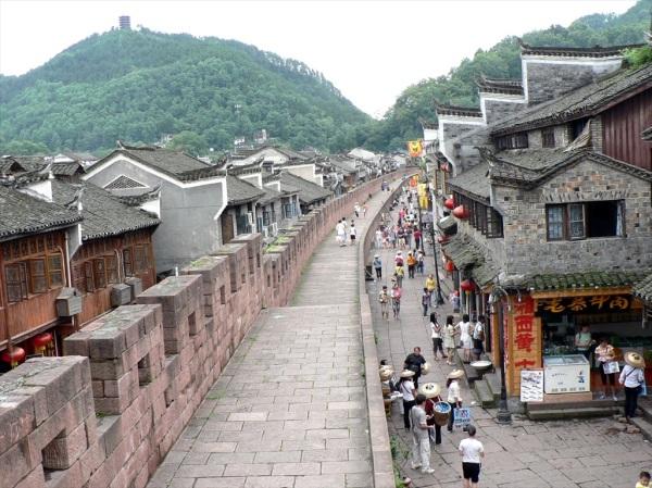 City wall, Phoenix Old Town,  Hunan Province, China July 2009