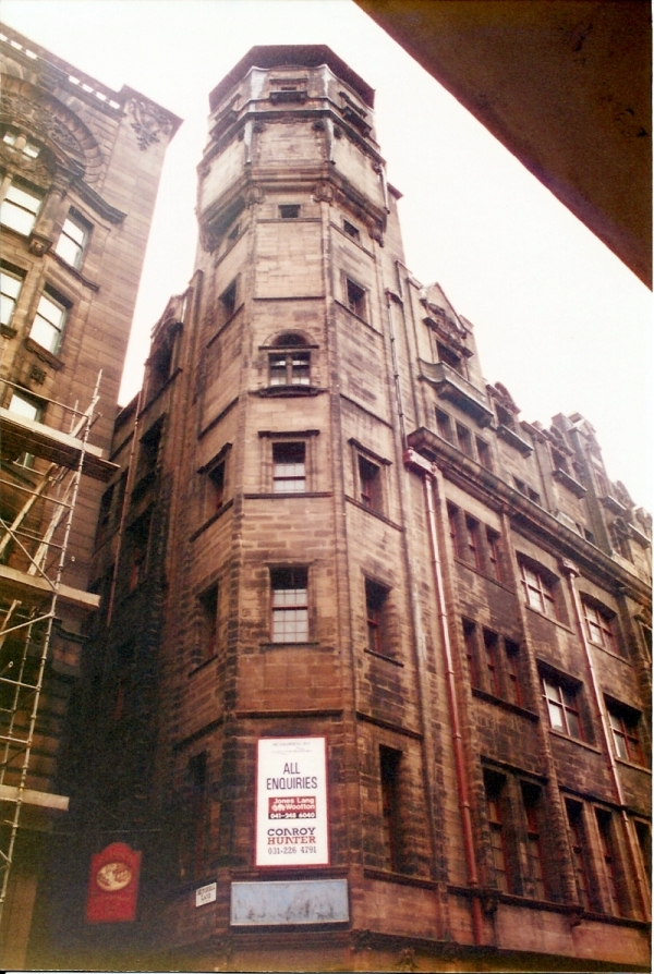 Water tower of Glasgow Herald Building, designed by Charles Rennie Mackintosh, 1893-1895.