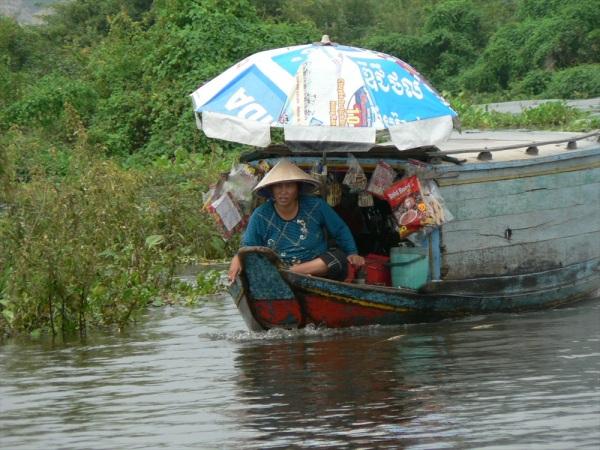 Floating shop, Tonlé Sap, Siem Reap,   Cambodia Oct 2007