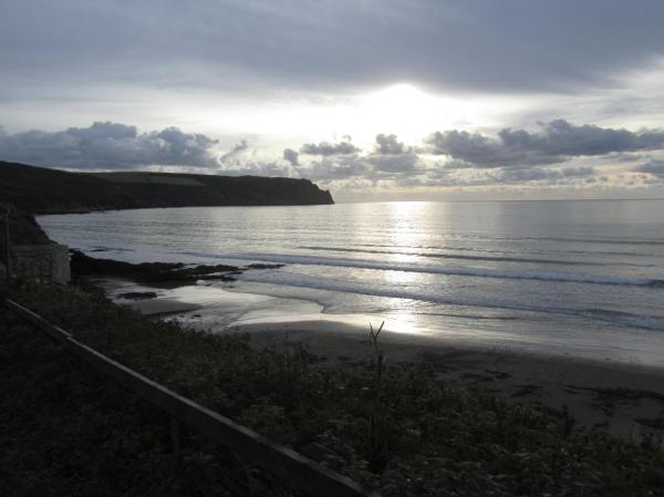 Carne Beach towards Nare  Head, South Cornwall, Dec 2012