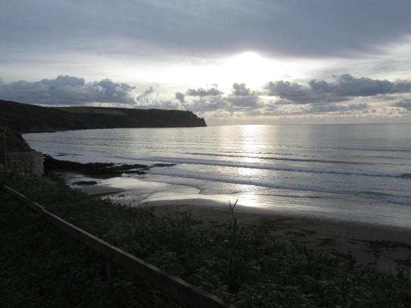 Carne Beach towards Nare  Head, South Cornwall, Dec 2012