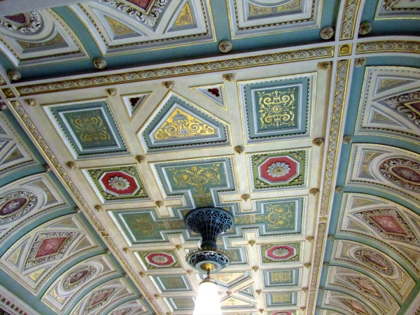 The ceiling of the Guildhall Worcester, England