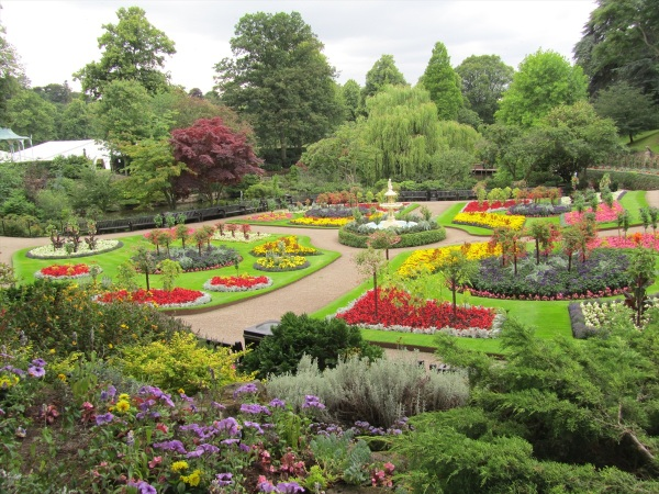 The Dingle Gardens, Shrewsbury, Shropshire, England