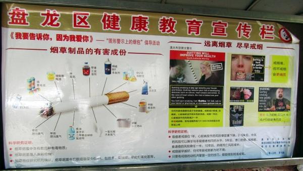 Anti-smoking poster - some in English