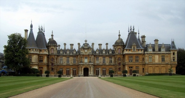 Waddesdon Manor, Buckhamshire, built by Baron Ferdinand de Rothschild in 1874.  in a  Neo-Renaissance style of a French Château. Now owned by the National Trust