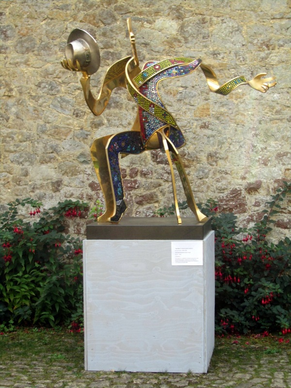 Sculpture on display in the grounds of Ightham Mote, Kent, England, Sept 2012