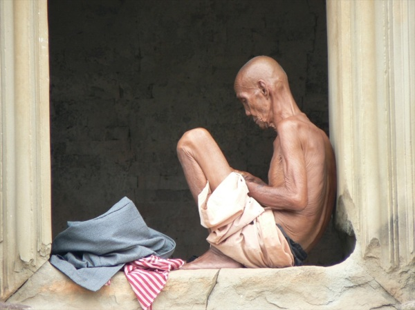 Contemplating,  Pre Rup temple, Cambodia, October 2007