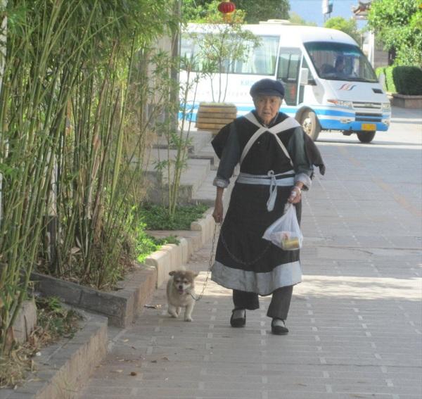 Walking the Dog in Lijiang, China