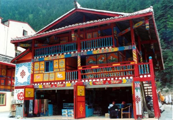 Tibetan architecture Juizhaigou