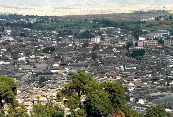 Lijiang Old Town from the Pagoda