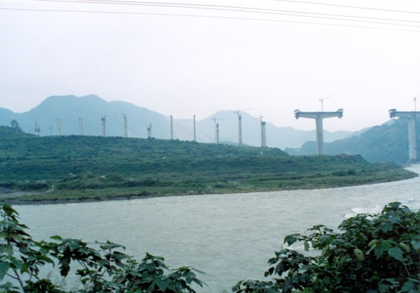 The road to Juizhaigou September 2004