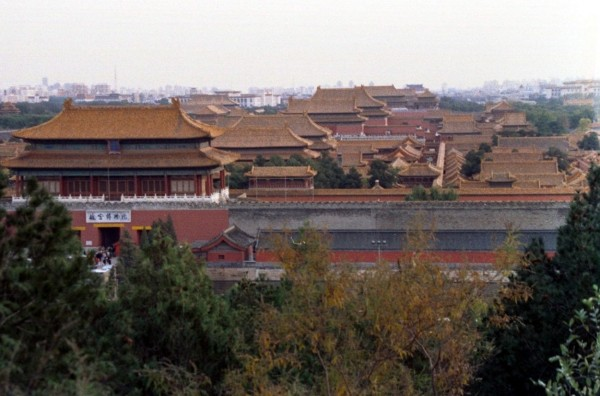 Beijing,  The Forbidden City from Jingshan Park, October 2002