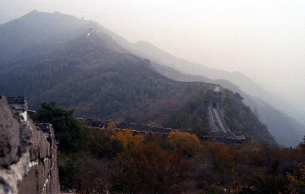 The Great Wall at Mutianyu, October 2002