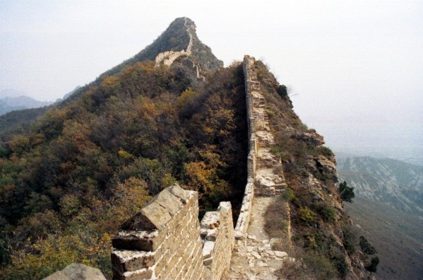 The Great Wall at Simatai, October 2002