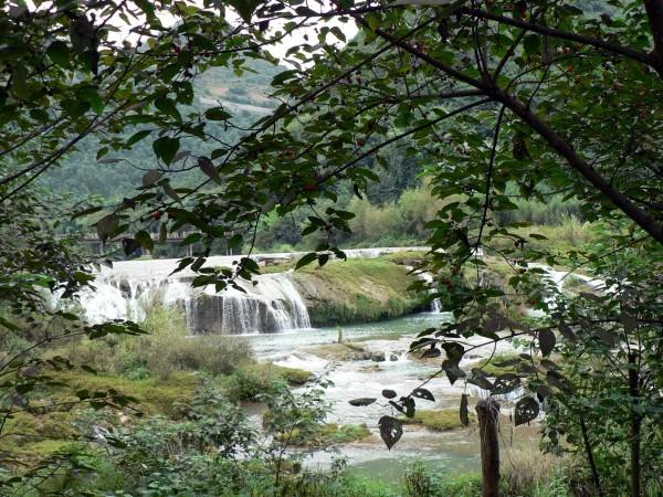 Nine Dragons Waterfalls - the lower falls.