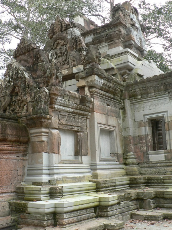 Restoration work in progress, Chao Say Tevoda Temple, Cambodia, 2007.