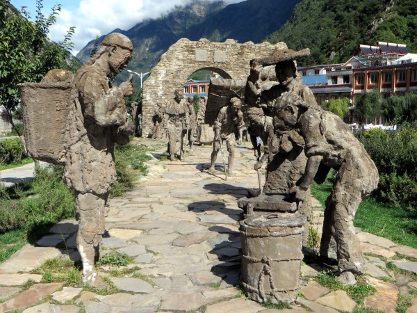 Sculpture park Kangding