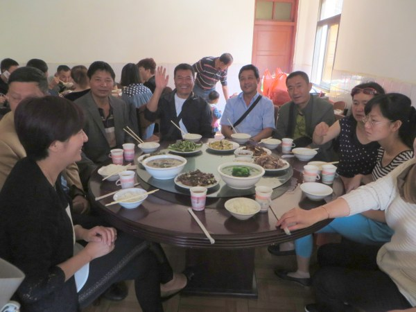The Wedding in Keduzhen - lunch the day after