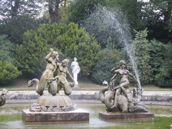 Fountain, Waddesdon Manor, Buckinghamshire, England.