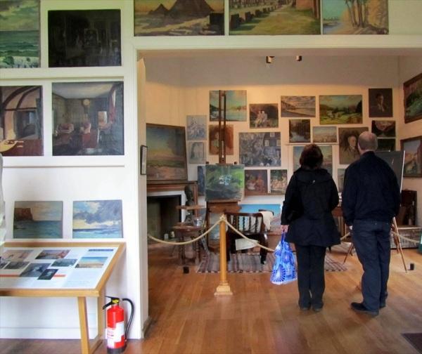 Winston Churchill's studio, Chartwell, Westerham, Kent, England