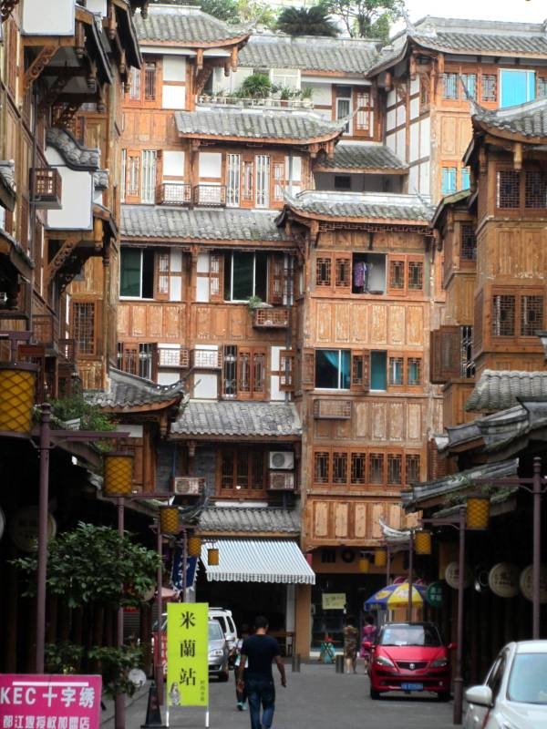 Houses, Dujiangyang, Sichuan Province, China